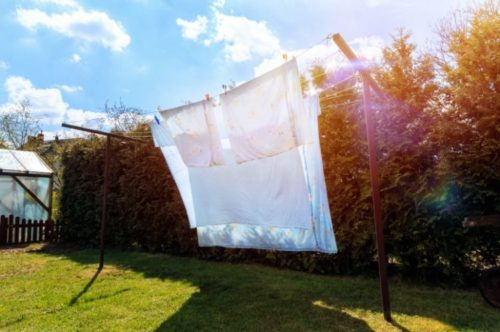 シャワーカーテンの洗濯