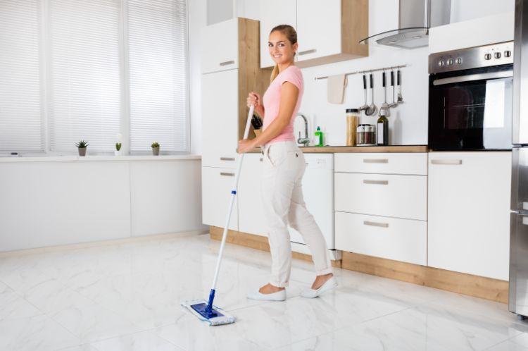リビング フローリング掃除