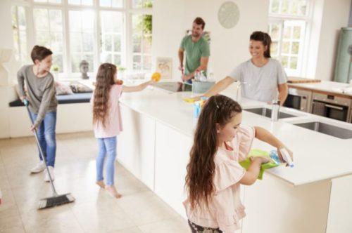 掃除は家族全員で