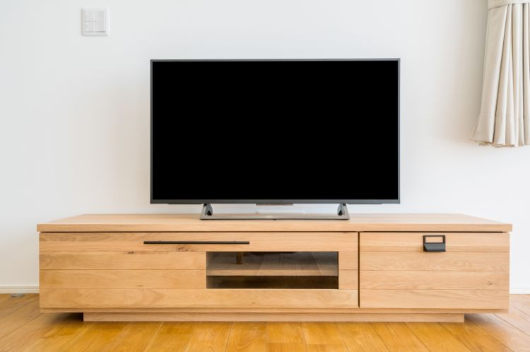 リビング掃除 テレビ