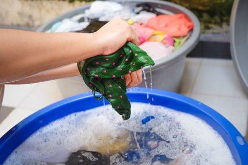 手洗い洗濯で丸洗いするやり方