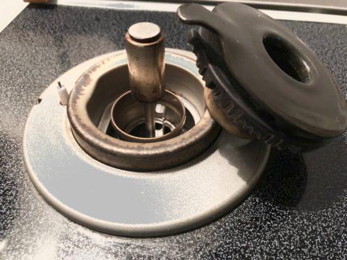 ガスコンロのバーナー部分の掃除