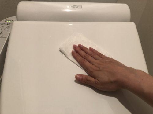 毎日のトイレ掃除 便座のフタ