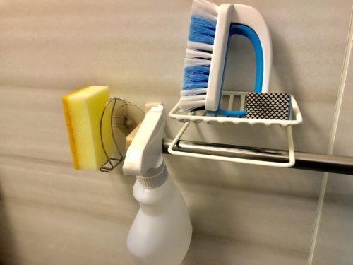 お風呂掃除に道具の置き場所・収納