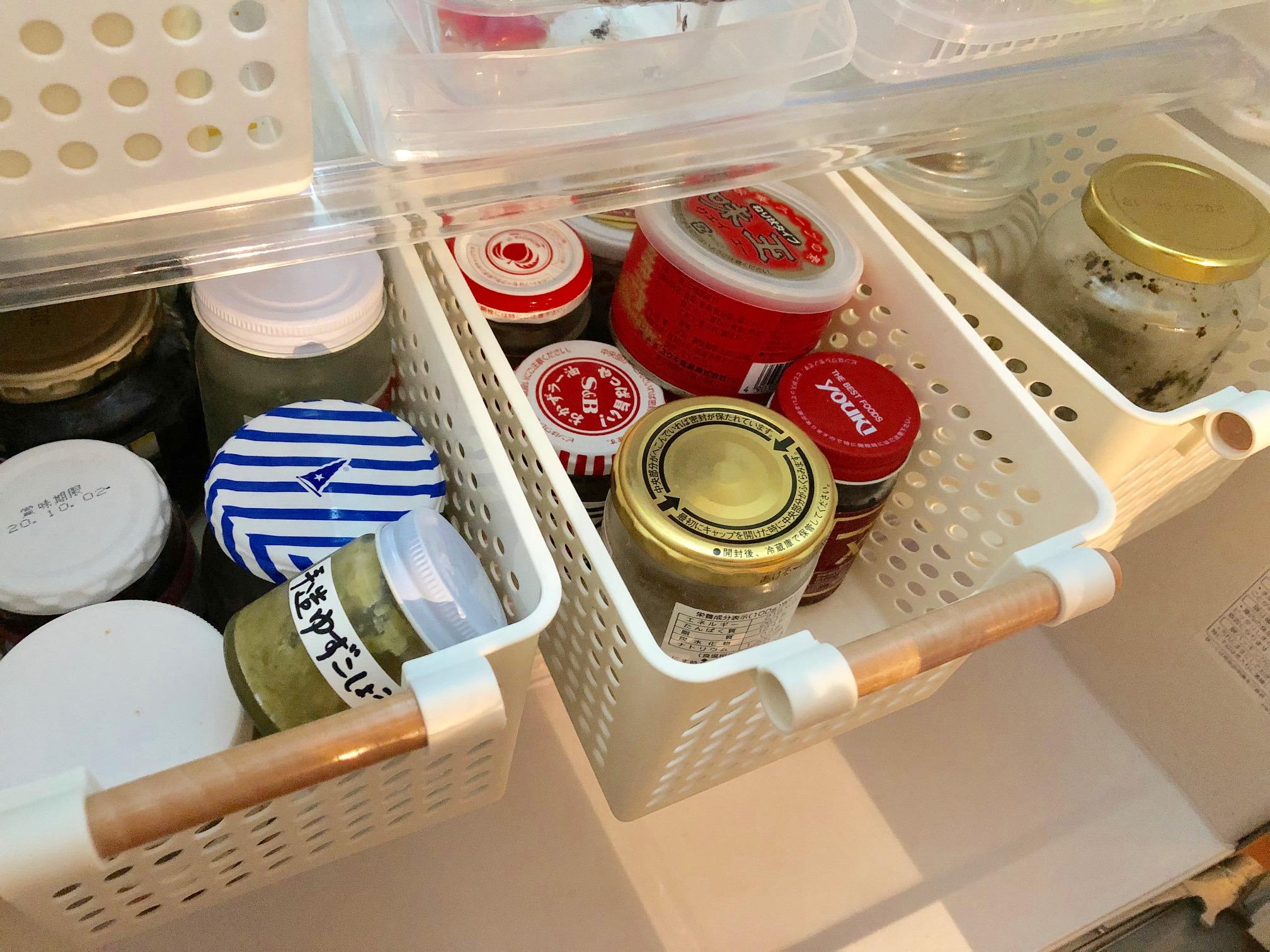 調味料の冷蔵庫収納