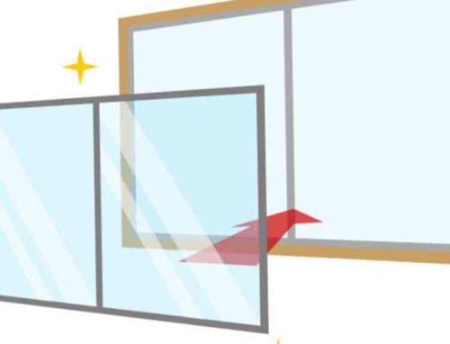 窓ガラスを交換する