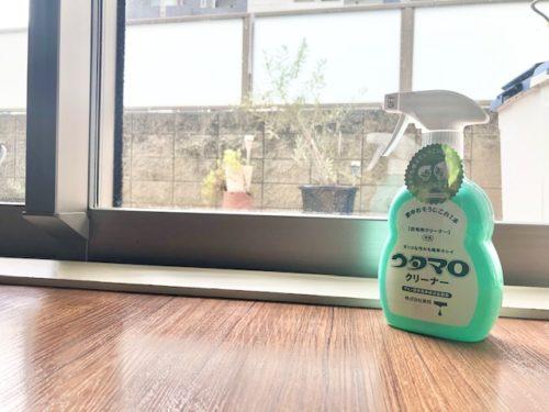ウタマロクリーナーで窓ふき掃除