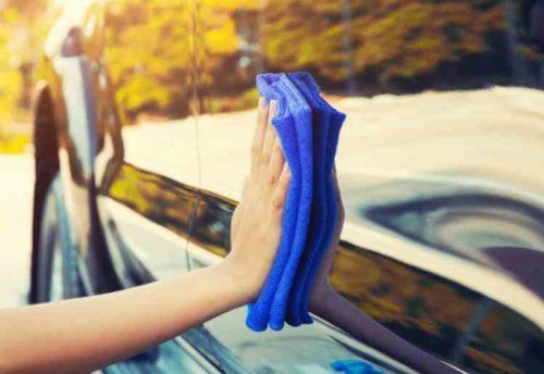 洗車時のふきとり