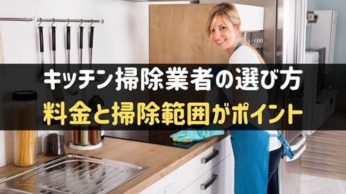 キッチン掃除業者の選び方