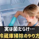 冷蔵庫掃除のやり方