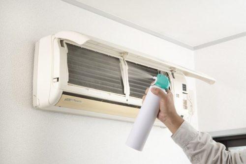 エアコン洗浄スプレーの使い方