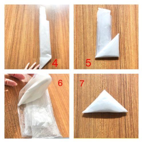 レジ袋三角折り2