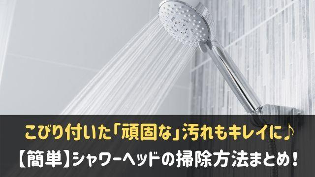 シャワーヘッドの掃除方法