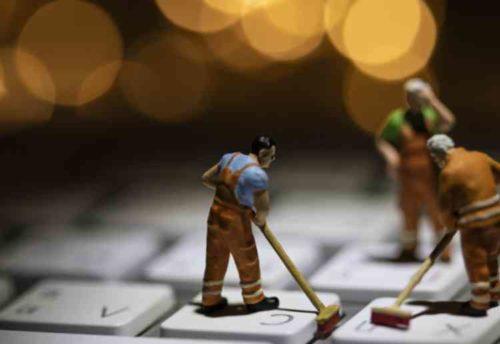 取り外せないキーボードの掃除