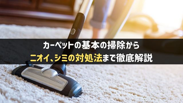 カーペットの掃除方法