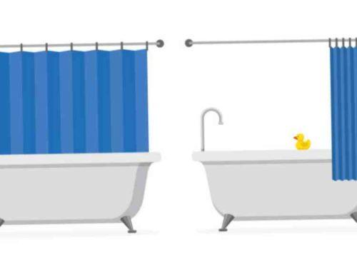 シャワーカーテンは乾燥させる