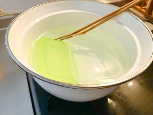 お湯で15分煮る