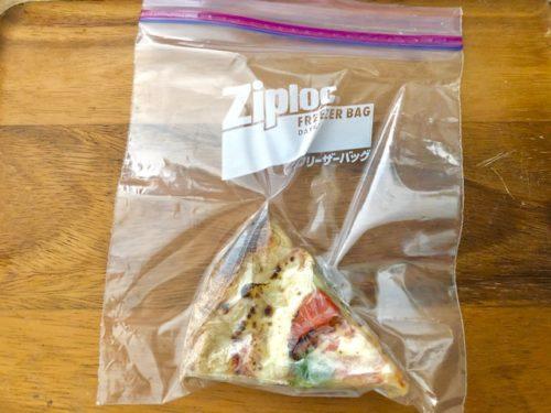 フリーザーバッグに入れて冷凍