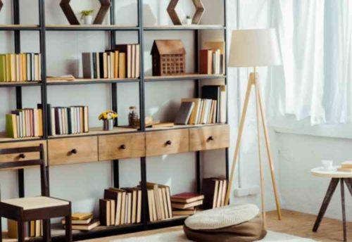 通気性の良い本棚
