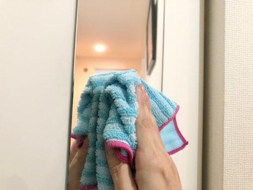 鏡なども水拭き