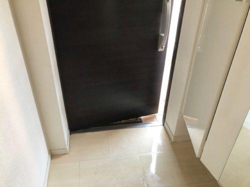 玄関掃除・乾燥