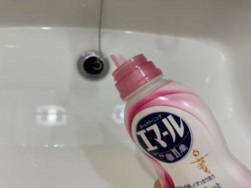 おしゃれ着用洗剤を溶かす