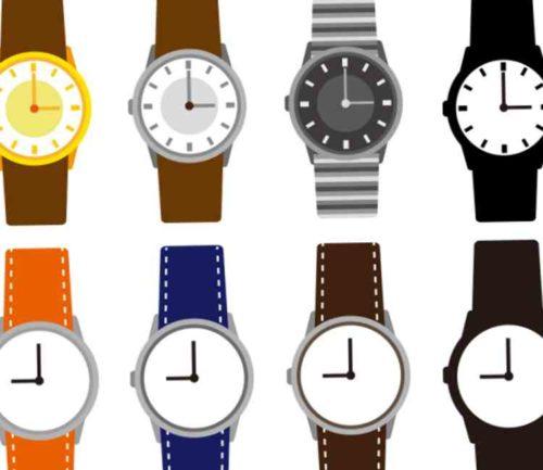 腕時計のベルト部分の汚れ