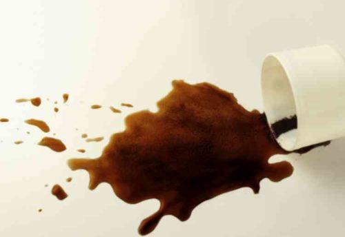 コーヒー渋による黒ずみ
