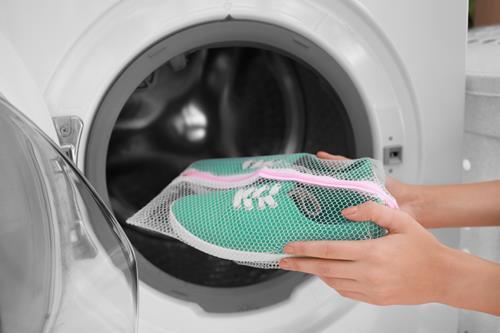 上靴を洗濯機で洗う