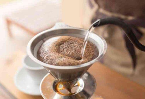 コーヒー殻をおく