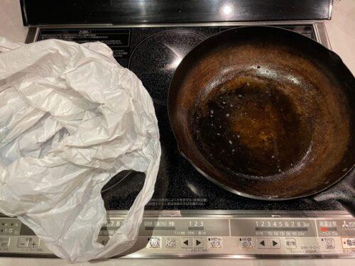 油の捨て方・ビニール袋