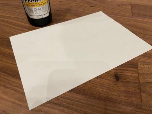 栓抜き代用:A4の紙